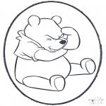Disegni da bucherellare - Disegno da bucherellare ' Winnie the Pooh 1