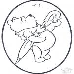 Disegni da bucherellare - Disegno da bucherellare ' Winnie the Pooh 2