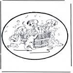 Disegni da bucherellare - Disegno da bucherellare 101 Dalmati 1