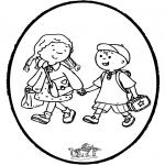 Disegni da bucherellare - Disegno da bucherellare a scuola
