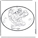 Disegni da bucherellare - Disegno da bucherellare - Aladdin 1