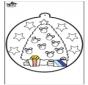 Disegno da bucherellare - Albero di Natale 1