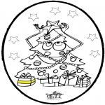 Disegni da colorare Natale - Disegno da bucherellare - Albero di Natale 3