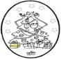 Disegno da bucherellare - Albero di Natale 3