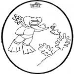 Disegni da bucherellare - Disegno da bucherellare Babar 4