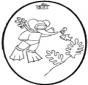 Disegno da bucherellare Babar 4