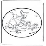 Disegni da bucherellare - Disegno da bucherellare - Bambi 1