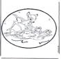 Disegno da bucherellare - Bambi 1