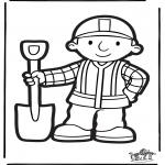 Disegni da bucherellare - Disegno da bucherellare - Bob Aggiustatutto 3