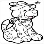 Disegni da bucherellare - Disegno da bucherellare - Cane 1
