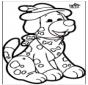 Disegno da bucherellare - Cane 1