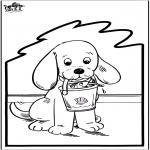 Disegni da bucherellare - Disegno da bucherellare - Cane 2