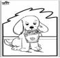 Disegno da bucherellare - Cane 2