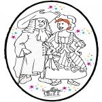 Disegni da colorare Temi - Disegno da bucherellare Carnevale