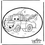 Disegni da bucherellare - Disegno da bucherellare Cars