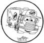 Disegno da bucherellare - Cars