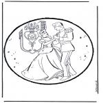 Disegni da bucherellare - Disegno da bucherellare - Cenerentola 1