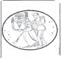Disegno da bucherellare - Cenerentola 1