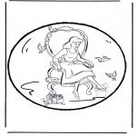 Disegni da bucherellare - Disegno da bucherellare - Cenerentola 2