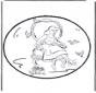Disegno da bucherellare - Cenerentola 2