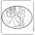 Disegni da bucherellare - Disegno da bucherellare - Cenerentola 3