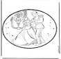 Disegno da bucherellare - Cenerentola 3