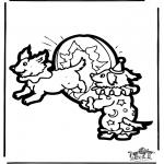 Disegni da bucherellare - Disegno da bucherellare Circo