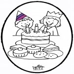 Disegni da bucherellare - Disegno da bucherellare - Compleanno