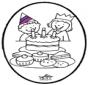 Disegno da bucherellare - Compleanno