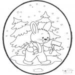 Disegni da bucherellare - Disegno da bucherellare coniglio