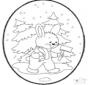 Disegno da bucherellare coniglio