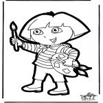 Disegni da bucherellare - Disegno da bucherellare Dora 1