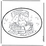 Disegni da bucherellare - Disegno da bucherellare - Dumbo