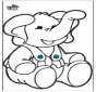 Disegno da bucherellare - Elefante 2
