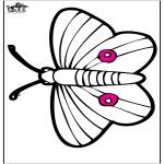 Disegni da colorare Animali - Disegno da bucherellare - farfalla