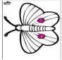 Disegno da bucherellare - farfalla