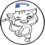 Disegni da bucherellare - Disegno da bucherellare - gatto