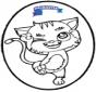 Disegno da bucherellare - gatto