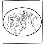 Disegni da bucherellare - Disegno da bucherellare - Il re leone