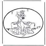 Disegni da bucherellare - Disegno da bucherellare - Lilli e il vagabondo 1