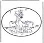 Disegno da bucherellare - Lilli e il vagabondo 1