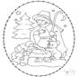 Disegno da bucherellare - Mangiatoia