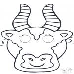 Disegni da bucherellare - Disegno da bucherellare - maschera 1