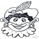 Disegni da bucherellare - Disegno da bucherellare - maschera 10