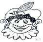 Disegno da bucherellare - maschera 10