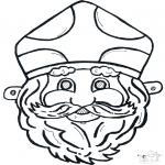 Disegni da bucherellare - Disegno da bucherellare - maschera 11