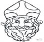 Disegno da bucherellare - maschera 11