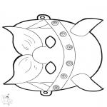 Disegni da bucherellare - Disegno da bucherellare - maschera 12