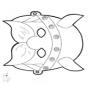 Disegno da bucherellare - maschera 12