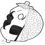 Disegni da bucherellare - Disegno da bucherellare - maschera 13